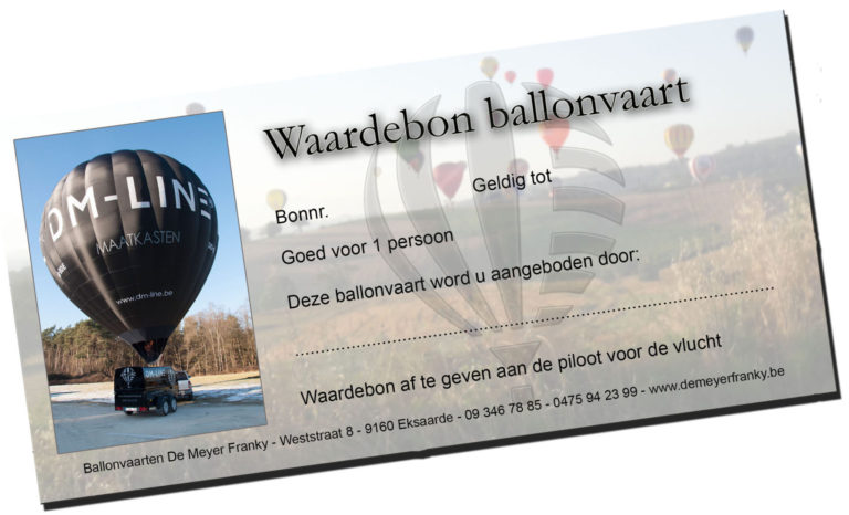 waardebon cadeaubon ballonvaart